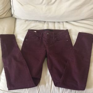 Joes Jeans Burgundy Size 27 Skinny Visionaire